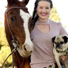 Dr. McKenna Thompson with her Horse and Pug